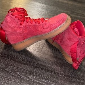 Air Force 1 Red & Tan sz 7.5